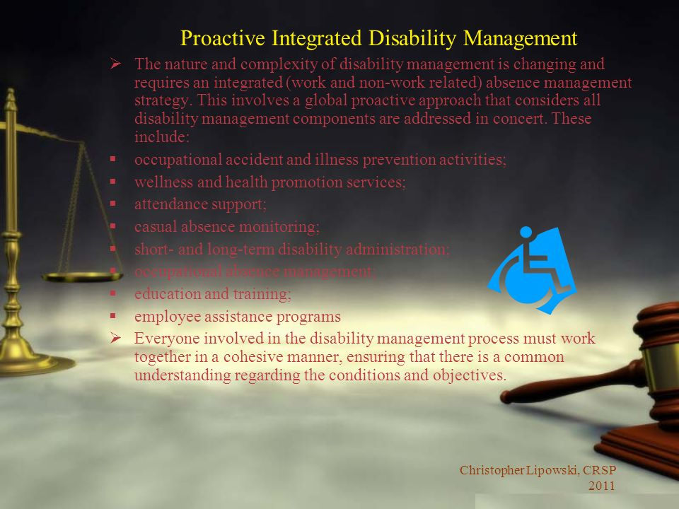 Proactive Integrated Disability Management