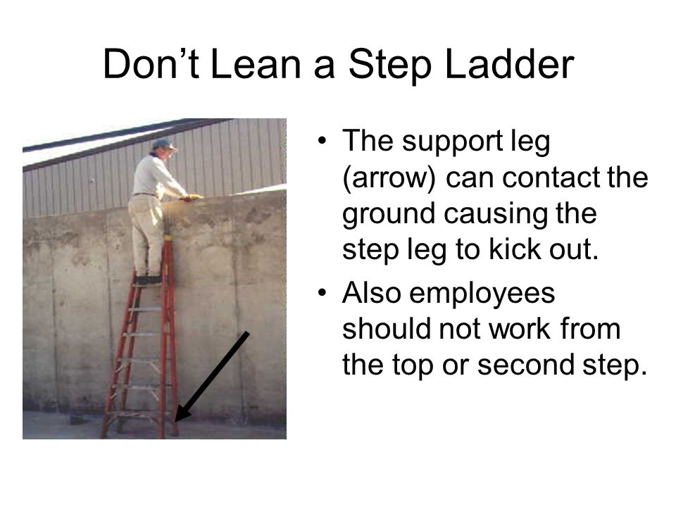 Don't Lean a Step Ladder