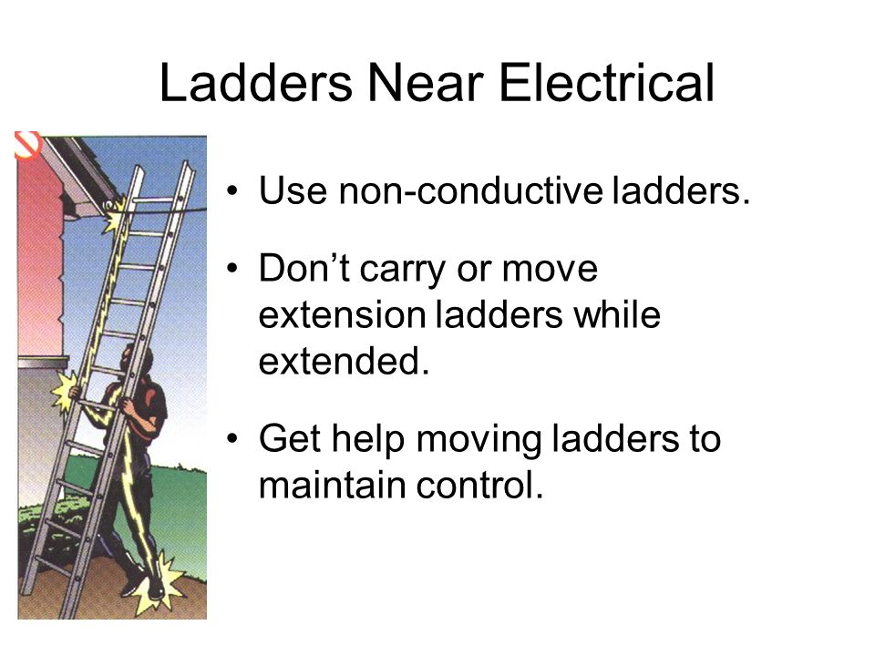 Ladders Near Electrical