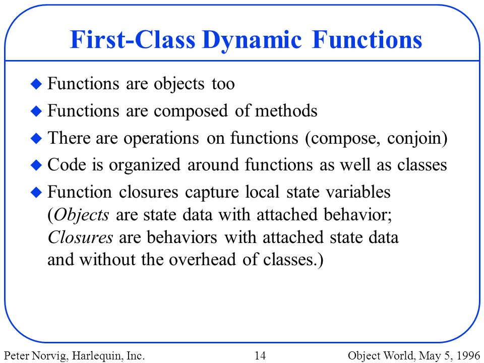 First-Class Dynamic Functions
