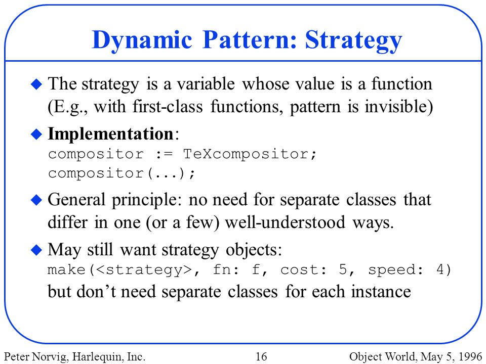Dynamic Pattern: Strategy