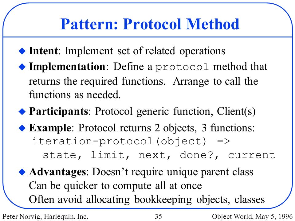 Pattern: Protocol Method
