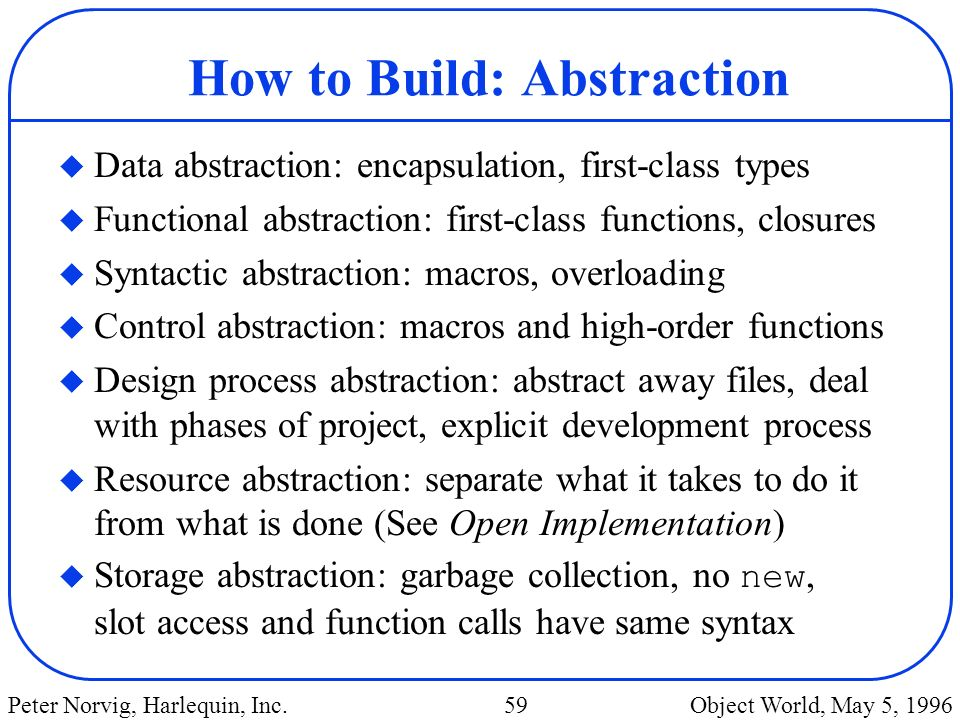 How to Build: Abstraction