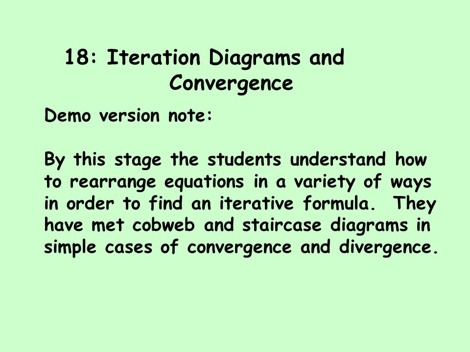 18: Iteration Diagrams and Convergence