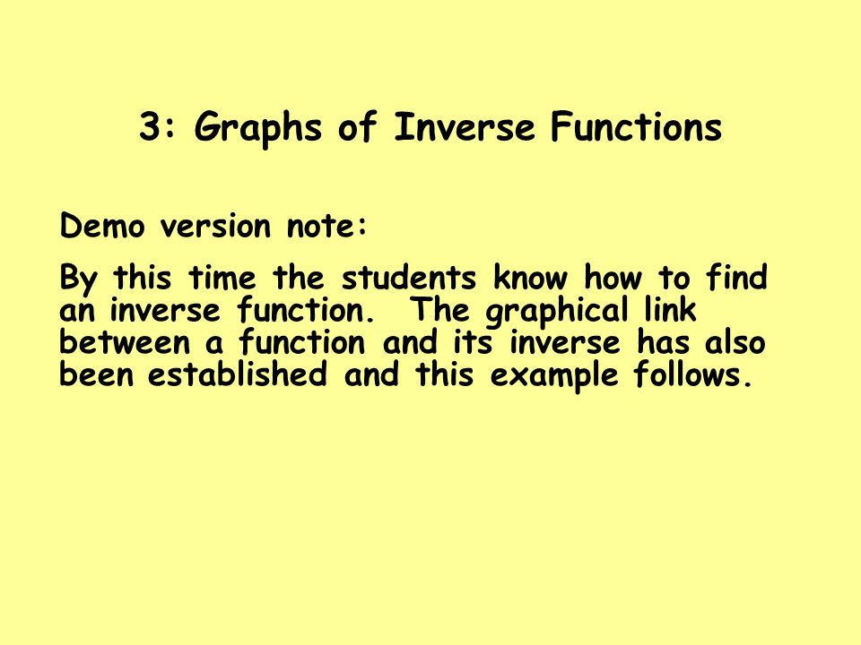 3: Graphs of Inverse Functions