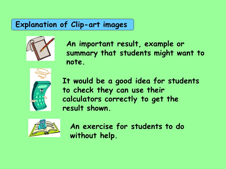Explanation of Clip-art images