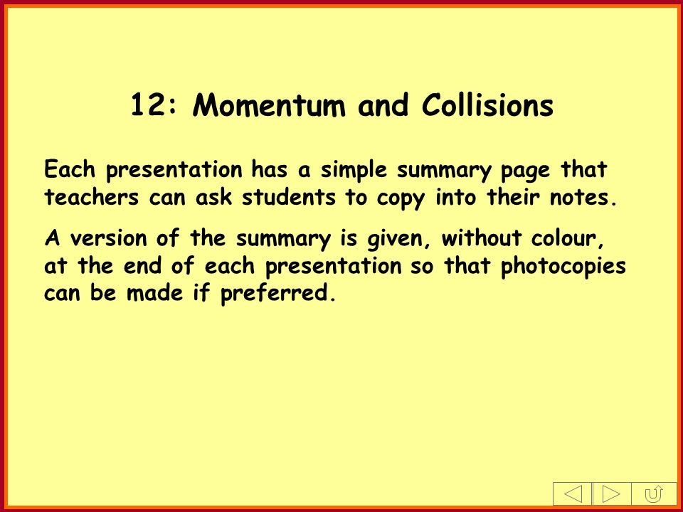 12: Momentum and Collisions