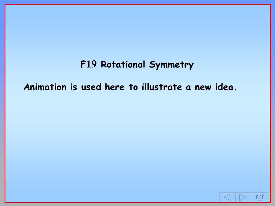 F19 Rotational Symmetry Animation is used here to illustrate a new idea.