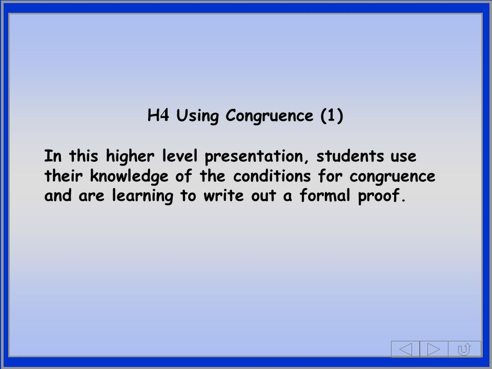 H4 Using Congruence (1)
