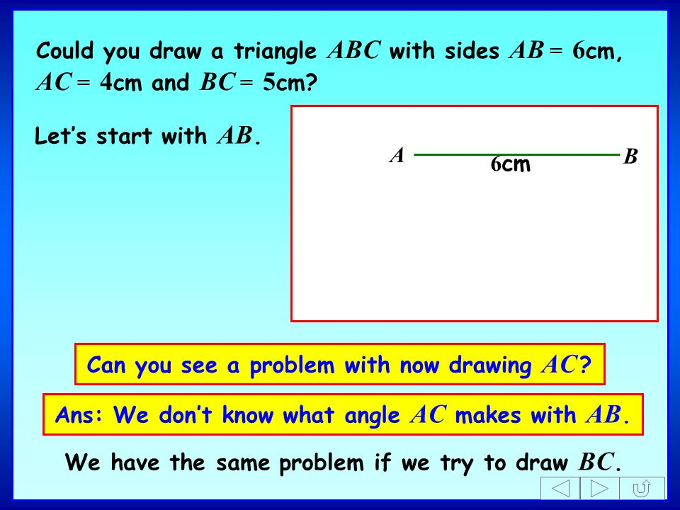 Can you see a problem with now drawing AC