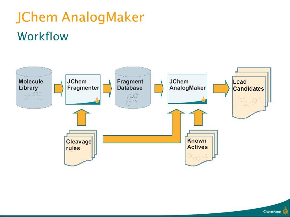 JChem AnalogMaker Workflow Lead Candidates