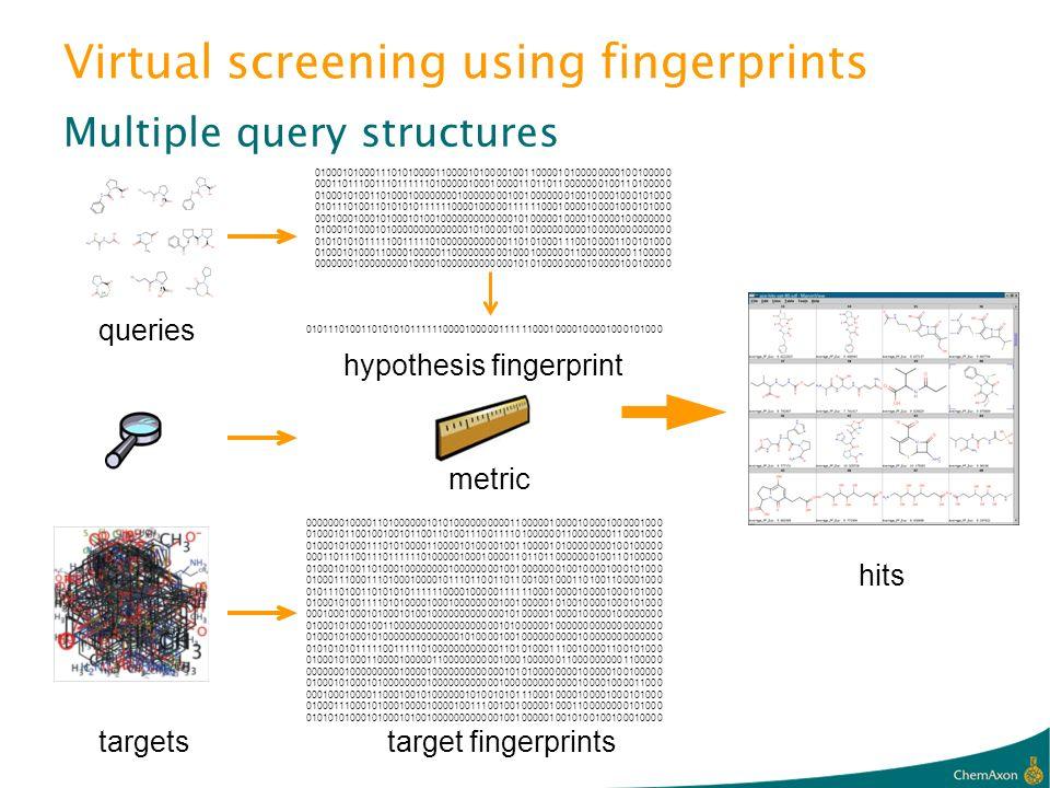 Virtual screening using fingerprints