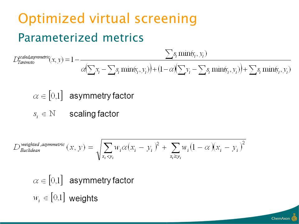 Optimized virtual screening
