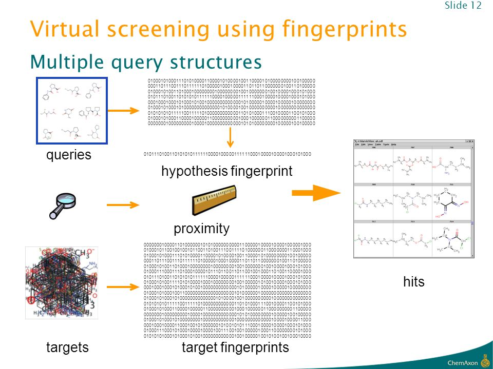 Virtual screening using fingerprints