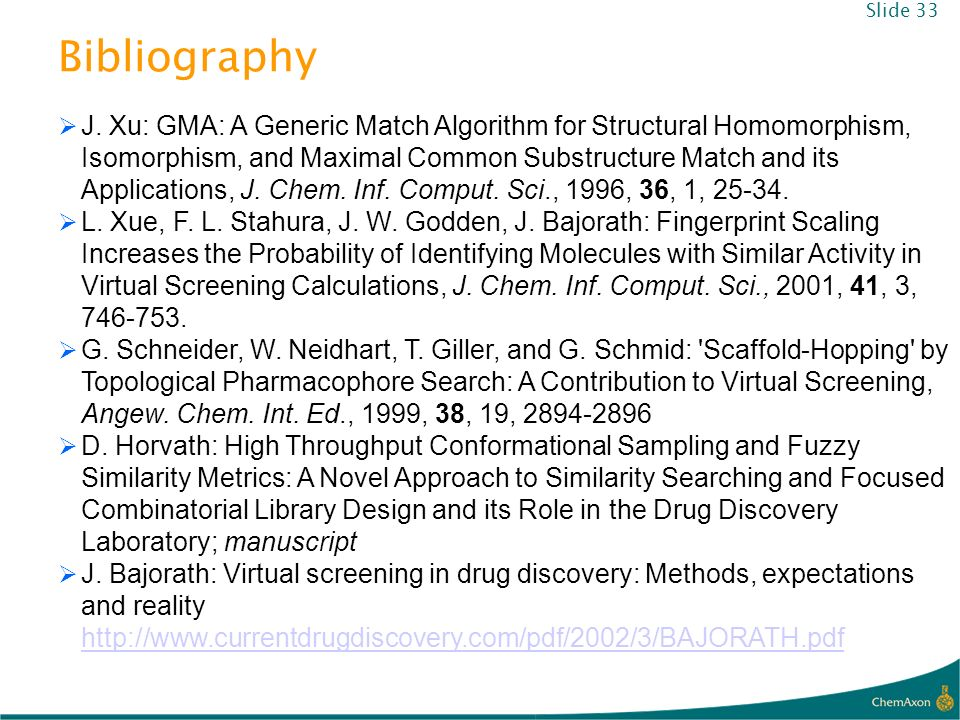 Slide 33 Bibliography.