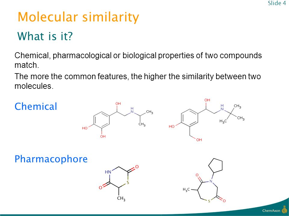 Molecular similarity What is it Chemical Pharmacophore