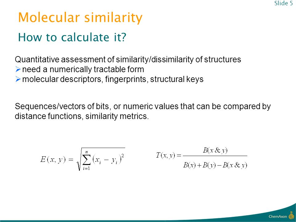 Molecular similarity How to calculate it
