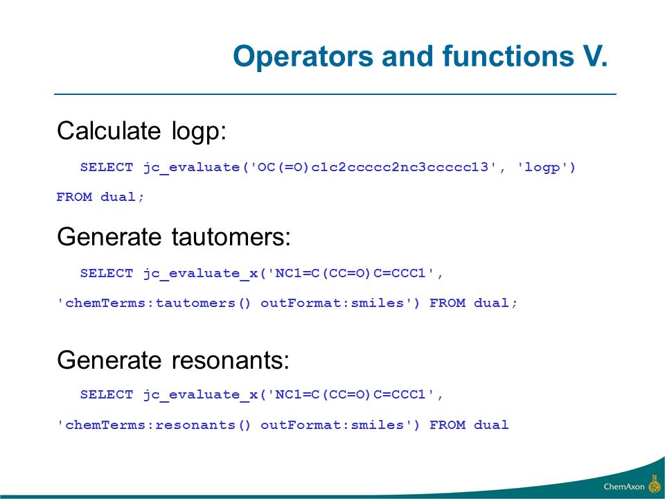 Operators and functions V.