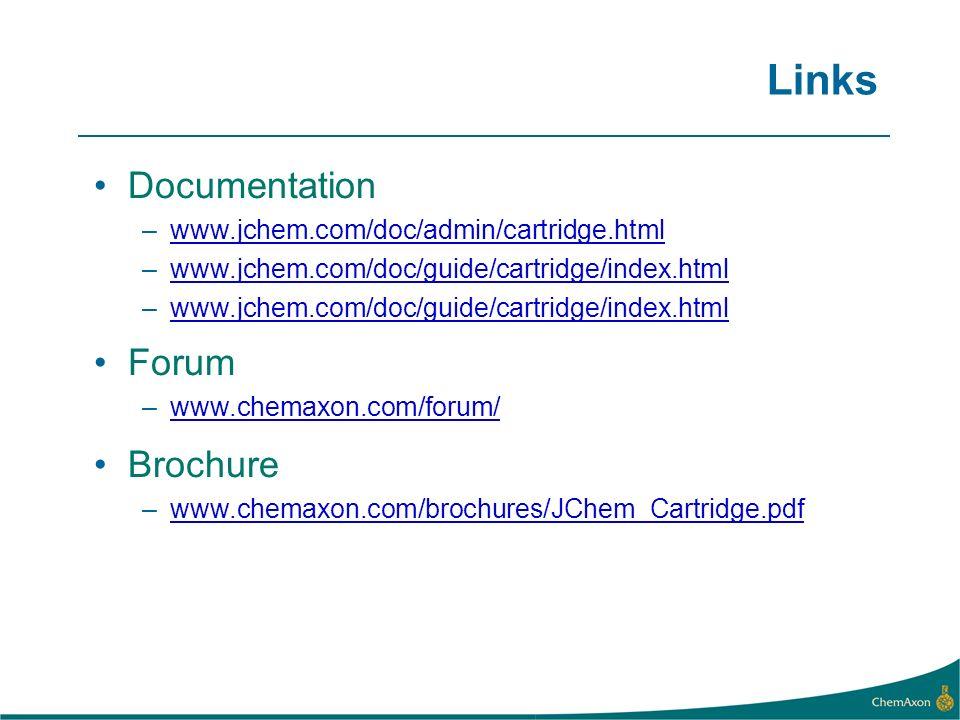 Links Documentation Forum Brochure