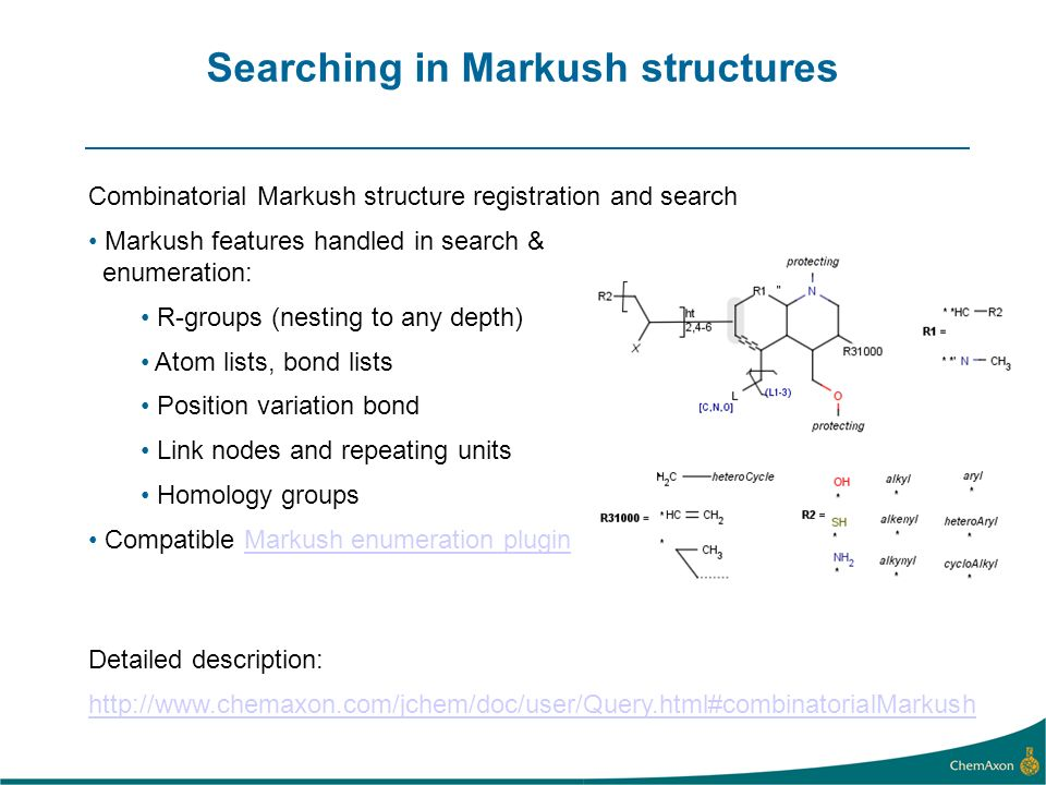 Searching in Markush structures