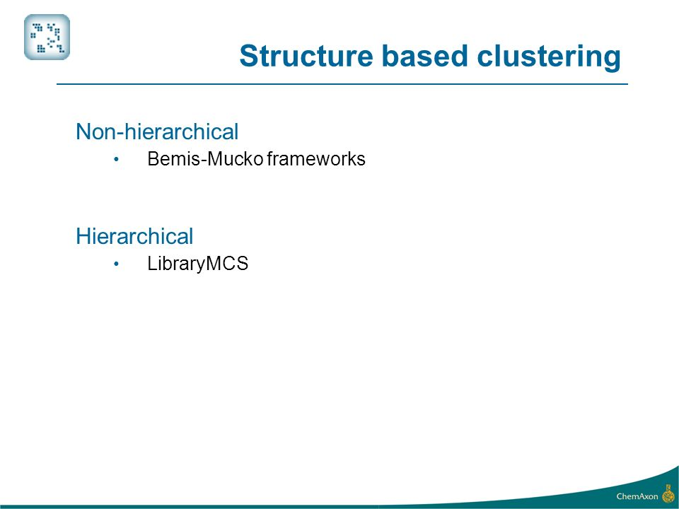 Structure based clustering