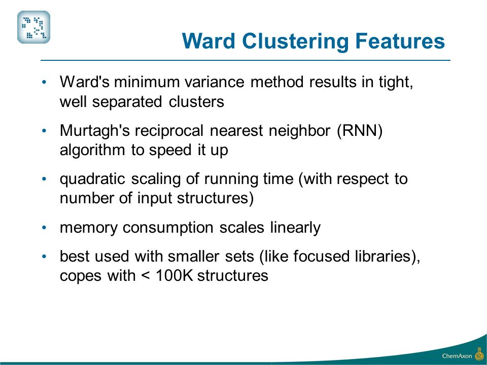 Ward Clustering Features