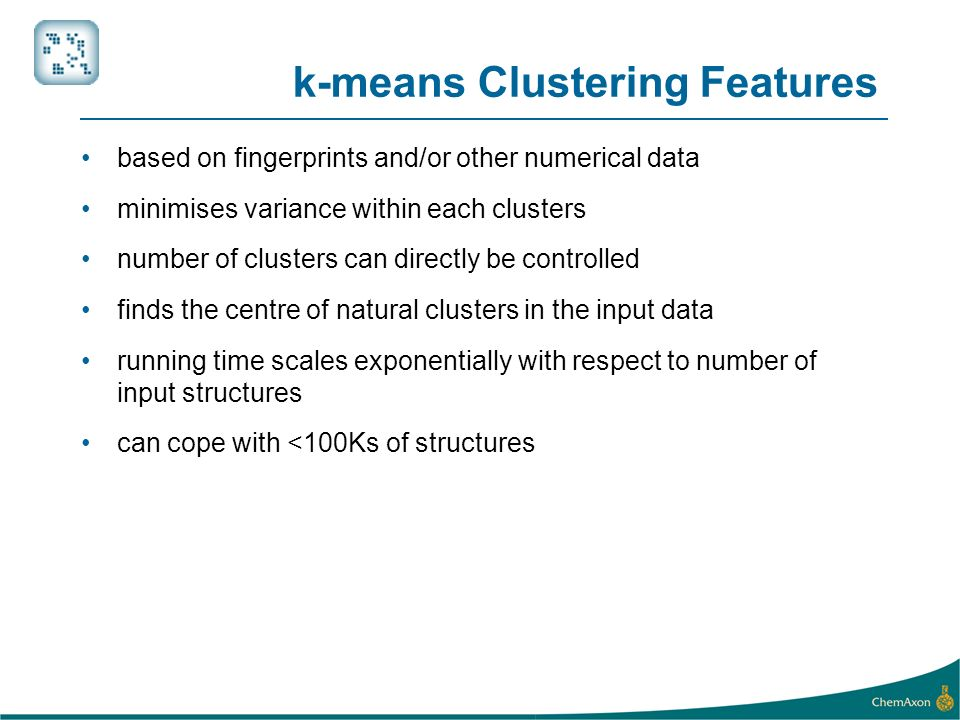 k-means Clustering Features