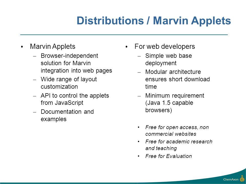 Distributions / Marvin Applets
