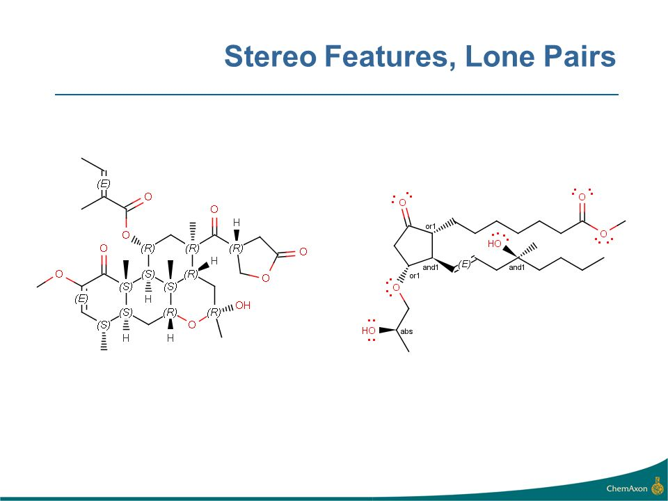 Stereo Features, Lone Pairs