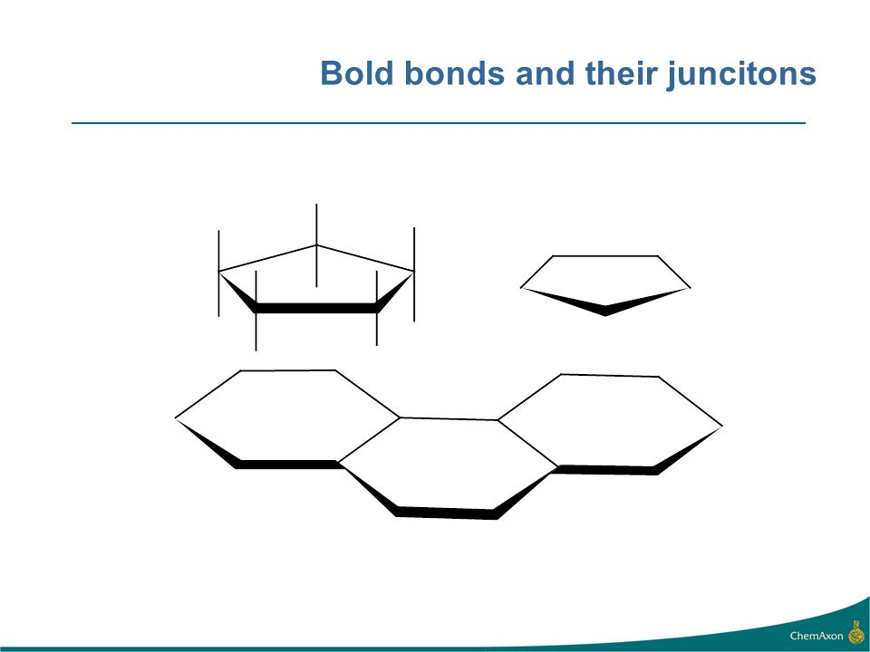 Bold bonds and their juncitons