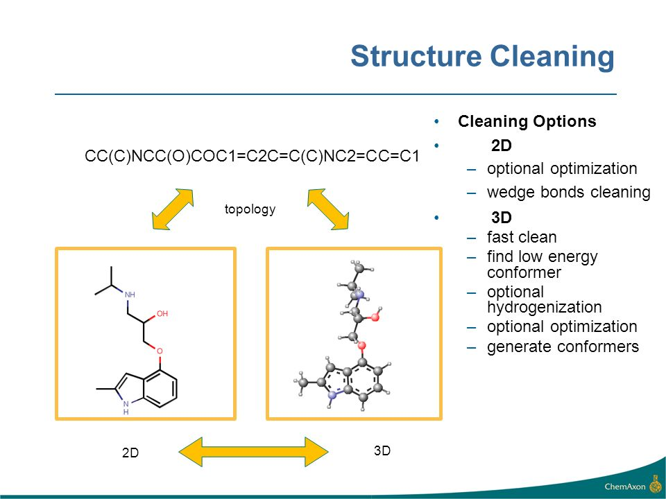 Structure Cleaning You can customize cleaning with various options.