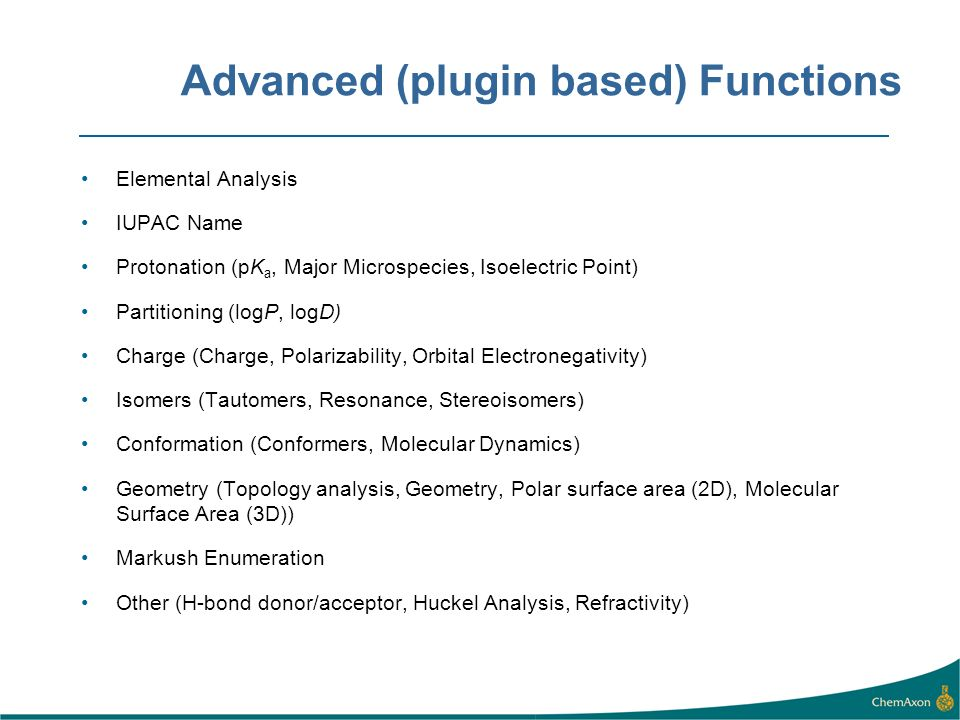 Advanced (plugin based) Functions