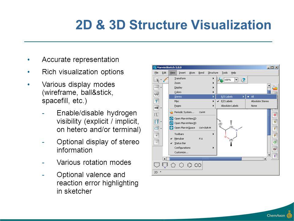 2D & 3D Structure Visualization