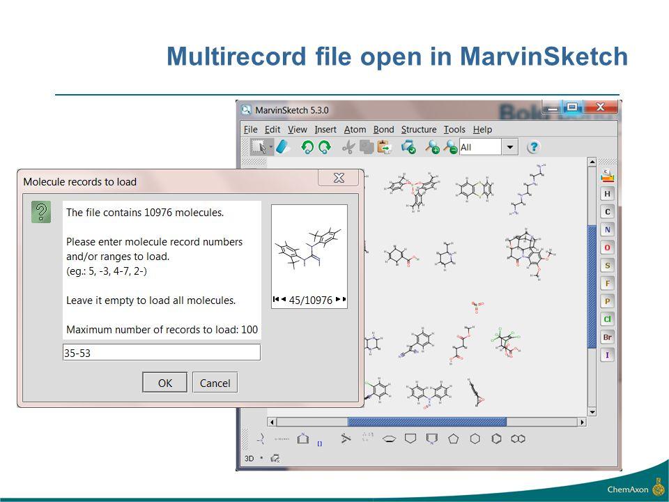 Multirecord file open in MarvinSketch