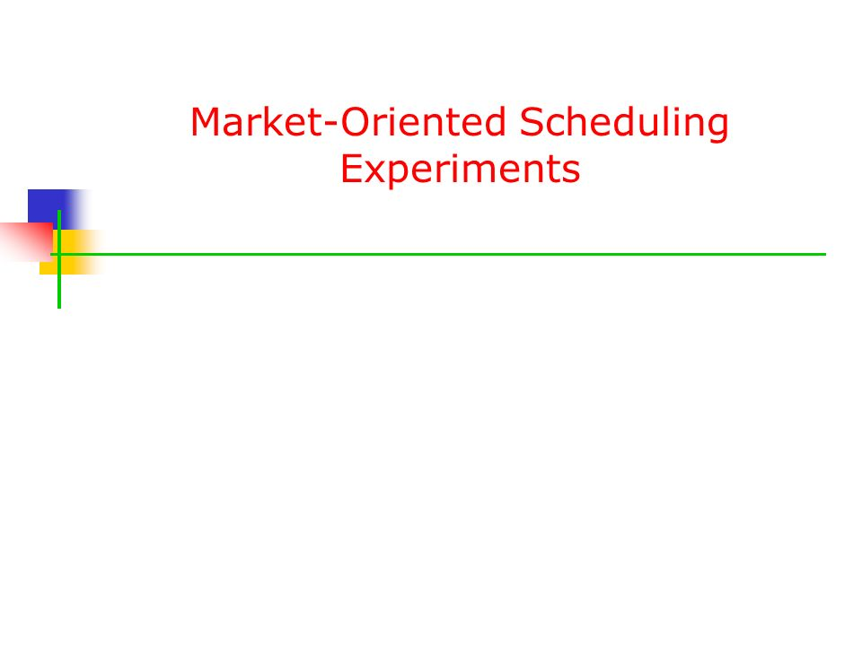 Market-Oriented Scheduling Experiments
