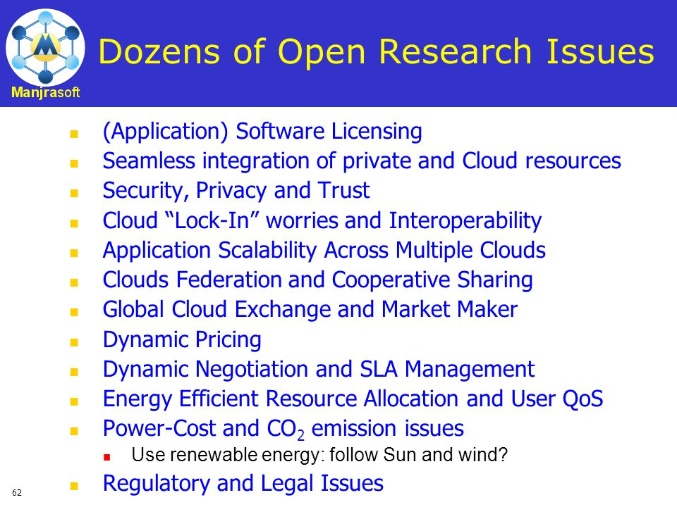 Dozens of Open Research Issues