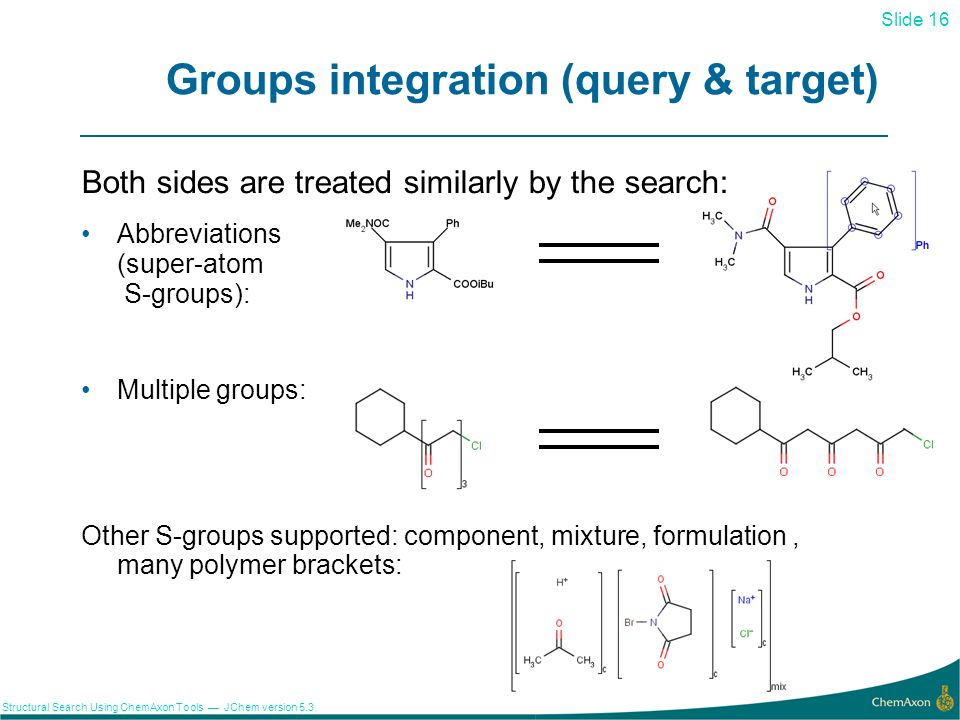 Groups integration (query & target)