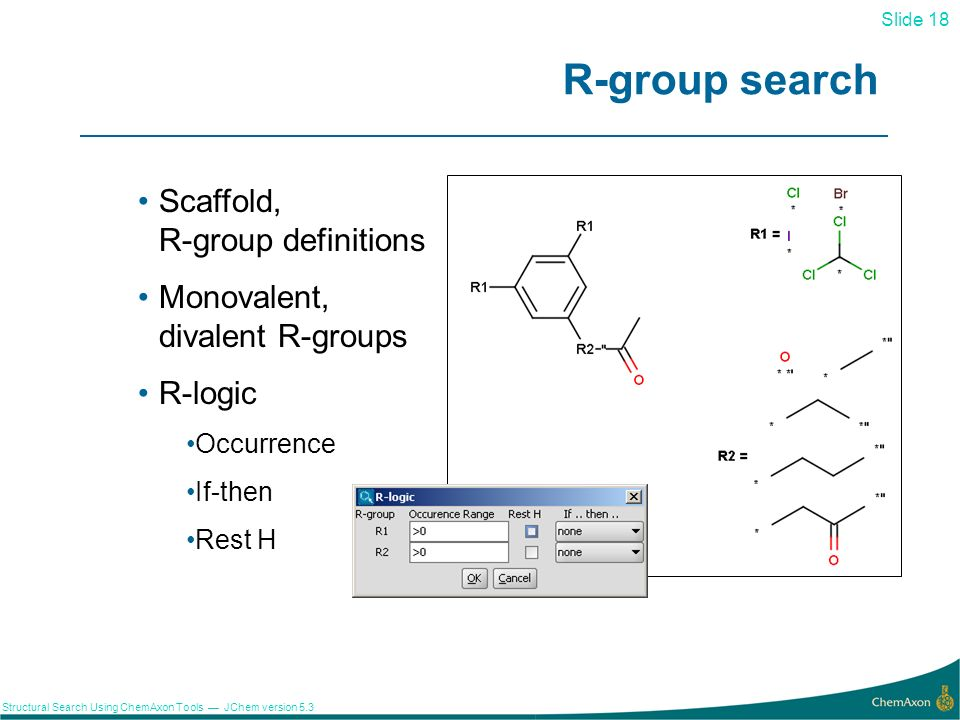 R-group search Scaffold, R-group definitions