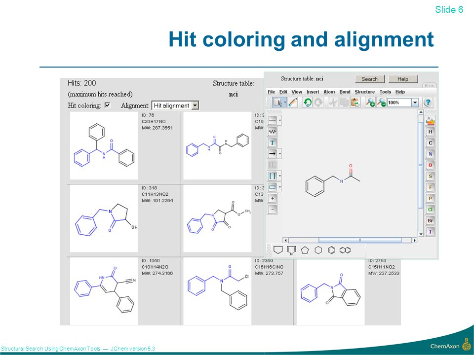 Hit coloring and alignment