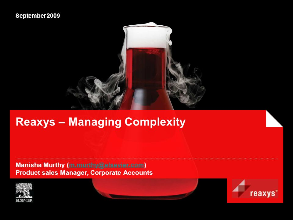 Reaxys – Managing Complexity