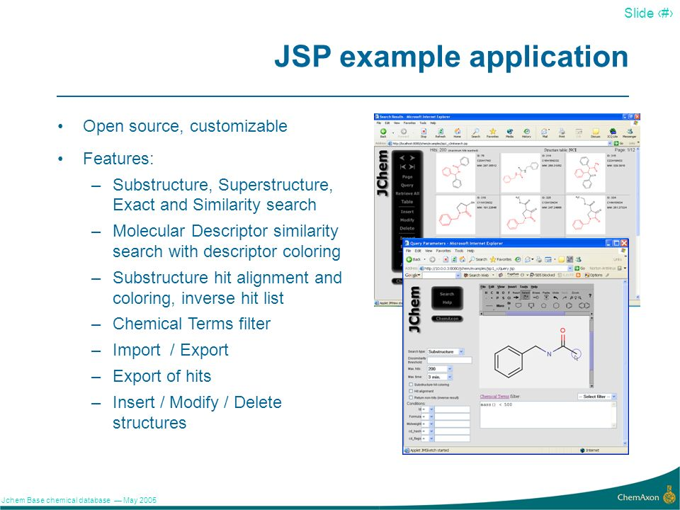 JSP example application