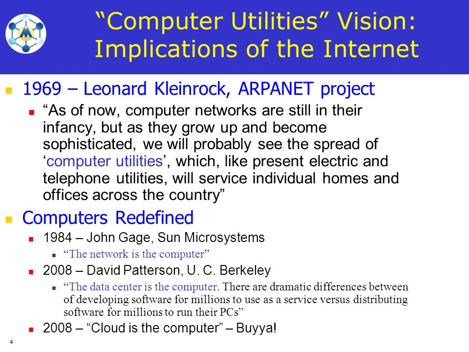 Computer Utilities Vision: Implications of the Internet