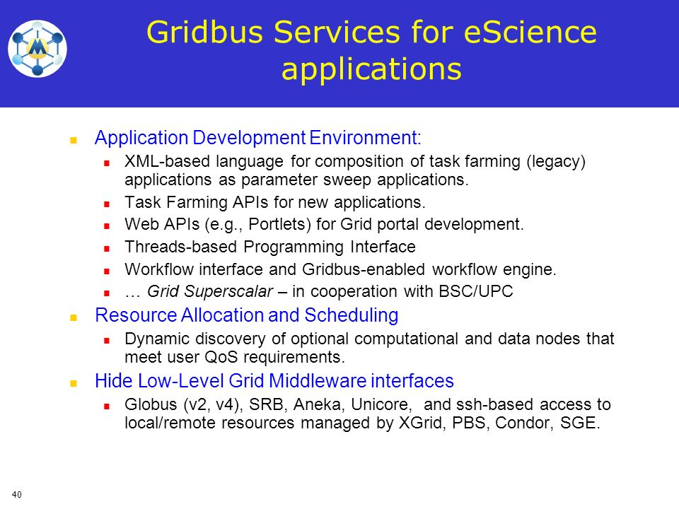 Gridbus Services for eScience applications