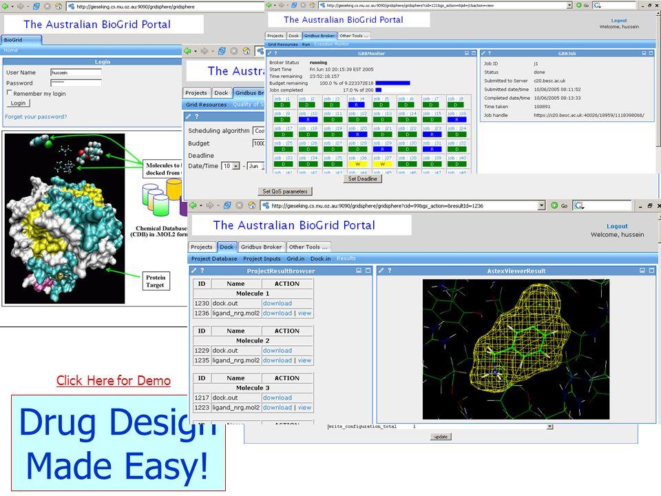 Click Here for Demo Drug Design Made Easy!