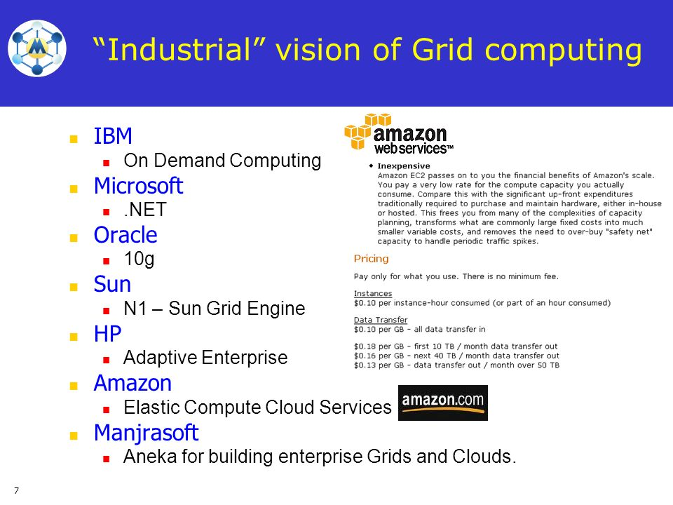 Industrial vision of Grid computing