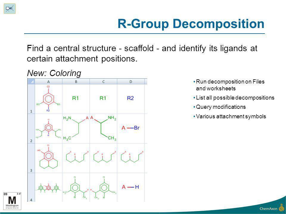 R-Group Decomposition