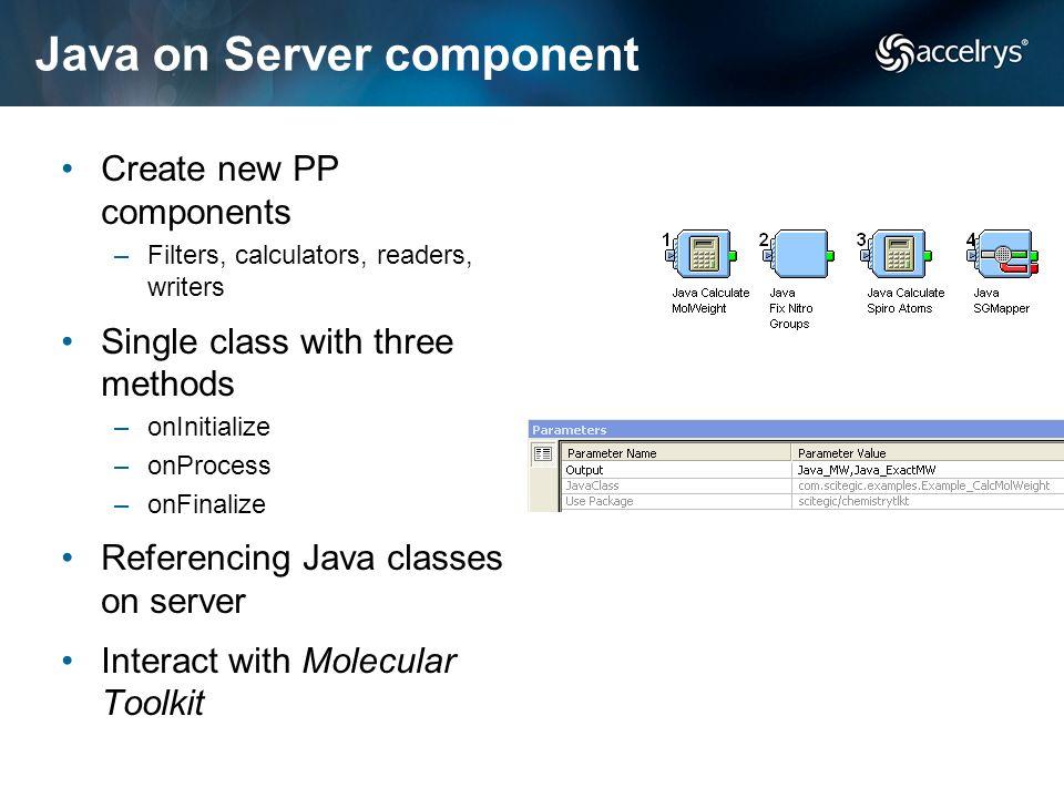 Java on Server component