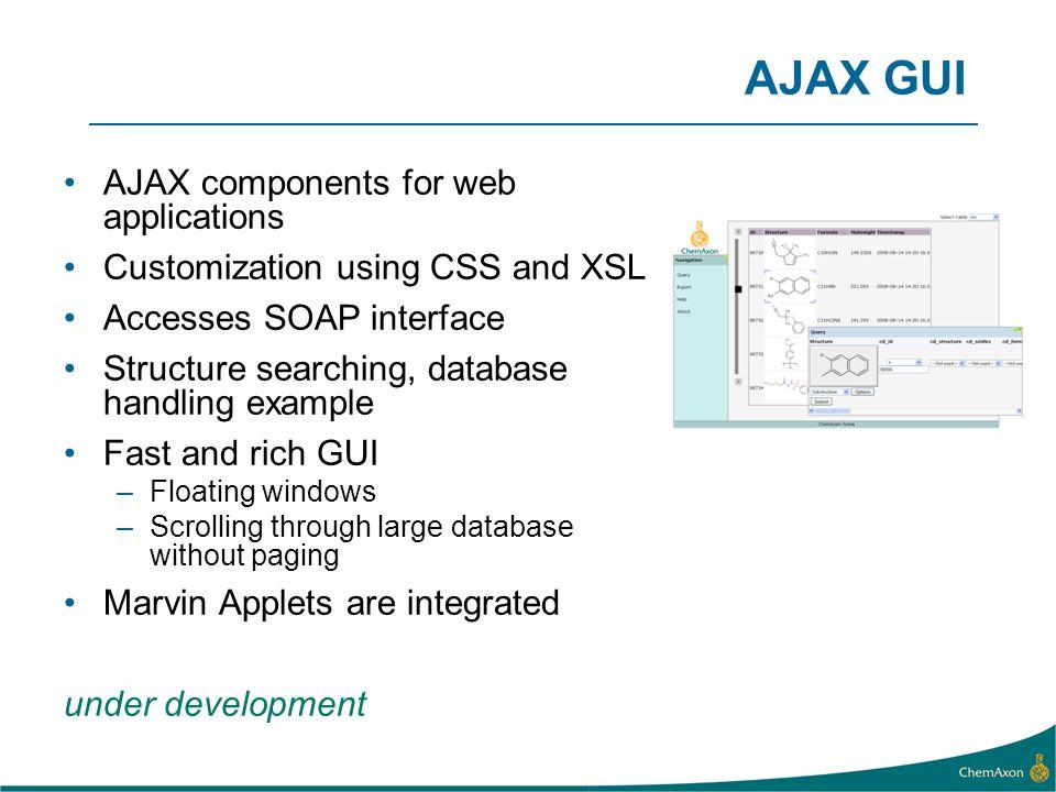 AJAX GUI AJAX components for web applications
