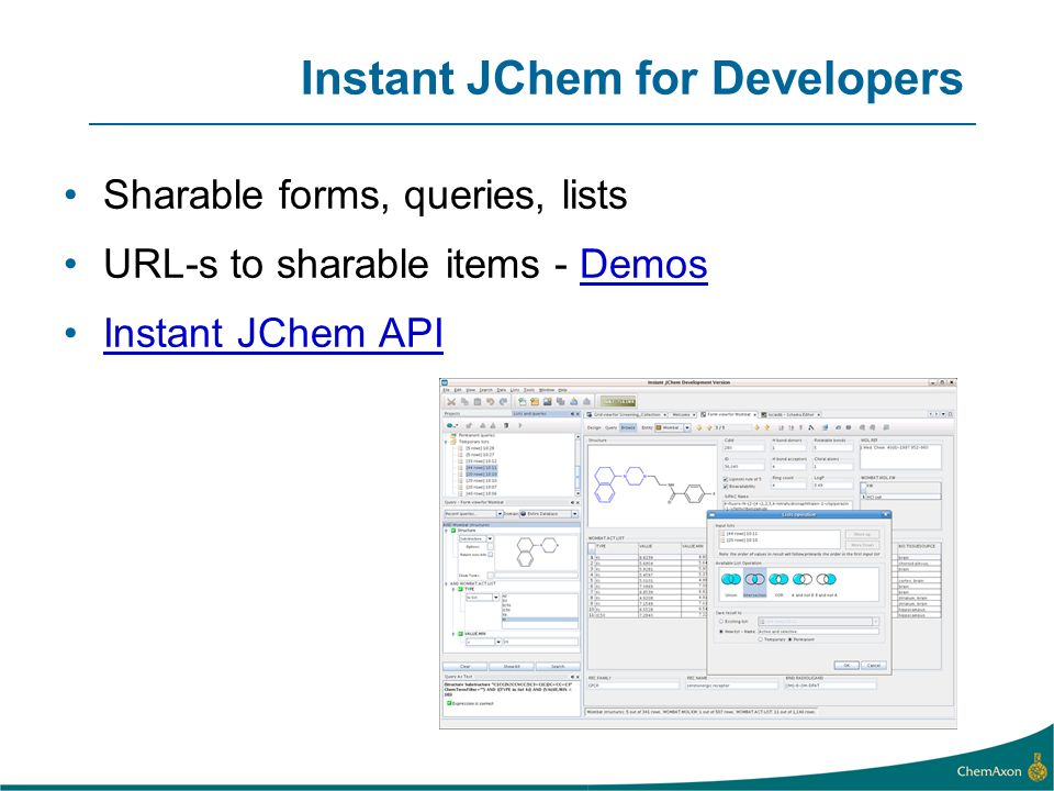 Instant JChem for Developers