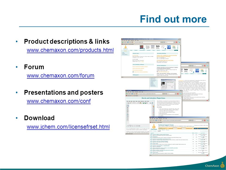 Find out more Product descriptions & links Forum